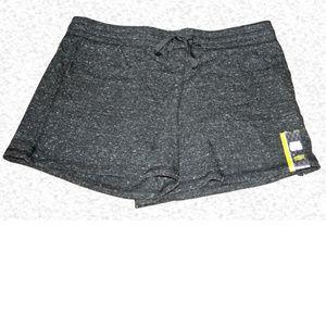 Athletic Works Knit Drawstring Shorts - D Gray F15
